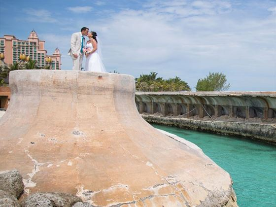 Ocean Steps, Atlantis Bahamas wedding