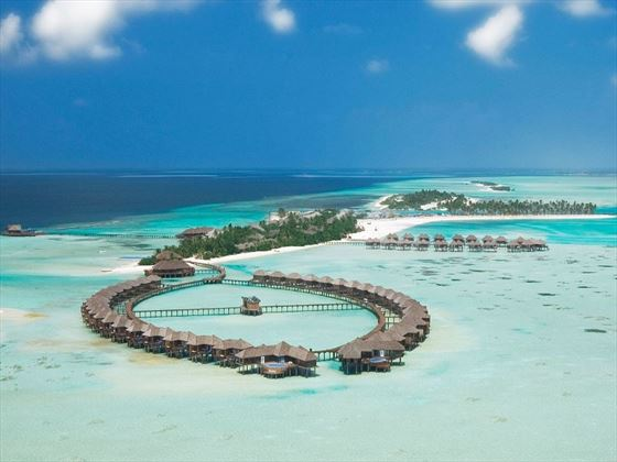 Ariel view of Olhuveli Beach & Spa Resort