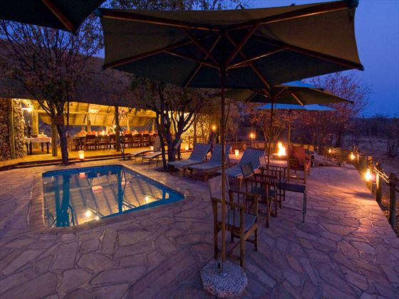 Ongava Tented Camp at night
