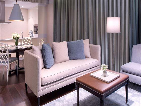 Oriental Residence Two-bedroom Suite living room