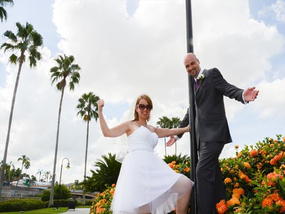 Wedding couple in Orlando