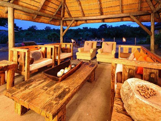 Outdoor seating at Jock Safari Lodge