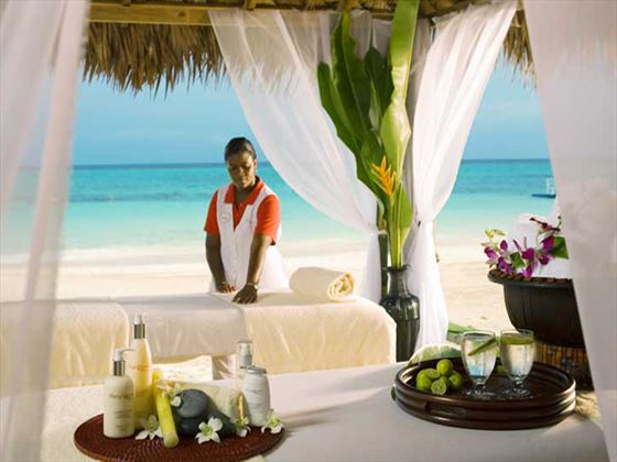 Outdoor spa treatment at Sandals Grande St Lucian Spa & Beach Resort