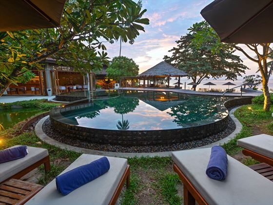 Upper level of the pool at Outrigger Koh Samui