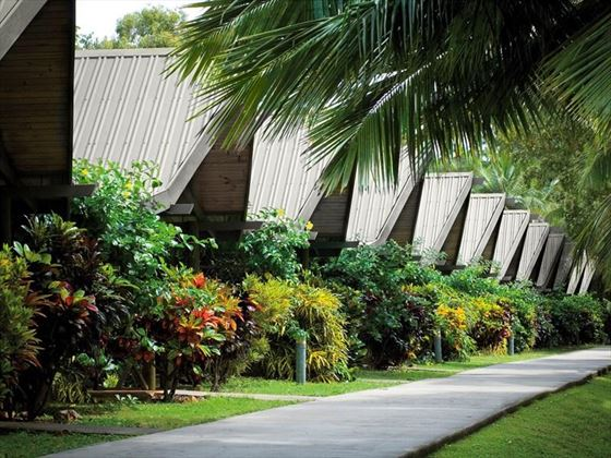 Palm Bungalows in the tropical gardens