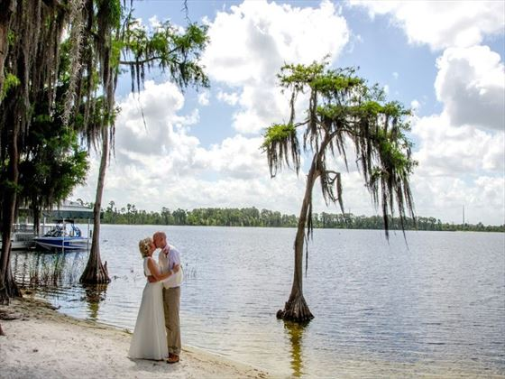 Bride & Groom, Paradise Cove, Orlando