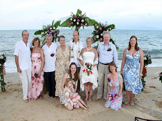 Wedding party at Paradise Beach