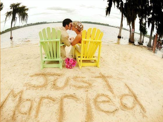 Wedding couple at Paradise Cove
