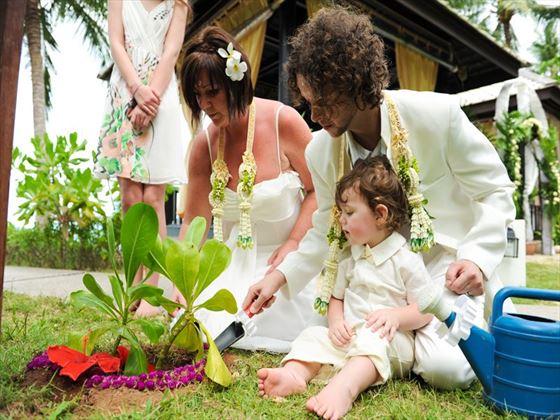 Symbolic tree planting ceremony