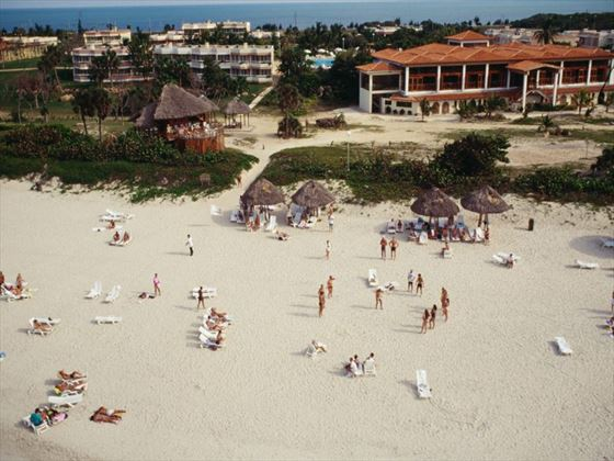 People on the beach at Varadero