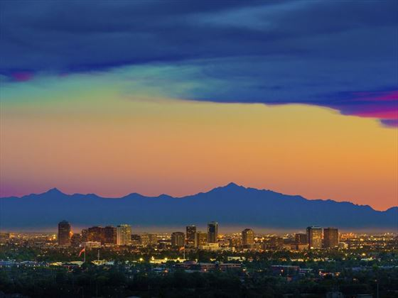 Phoenix, Arizona skyline viewed from Scottsdale