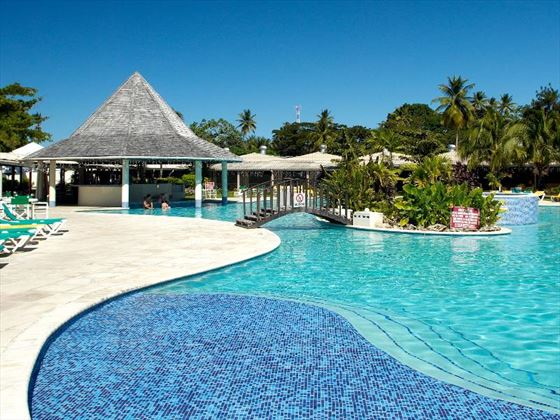 Pool and swim-up bar at Turtle Beach Tobago