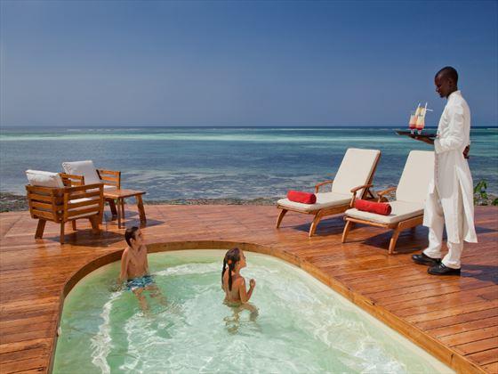 Pool service at Essque Zalu Zanzibar