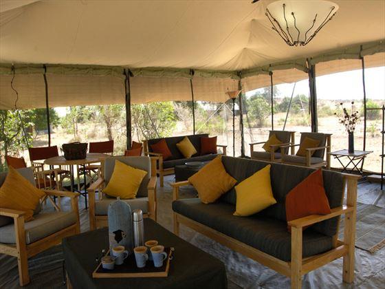 Porini Lion Camp lounge