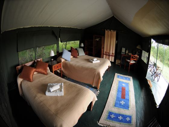 Luxury Tent at Porini Rhino Camp