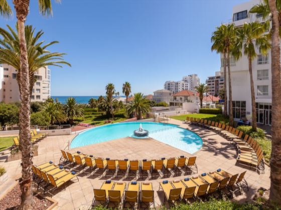 Protea Hotel President sun loungers
