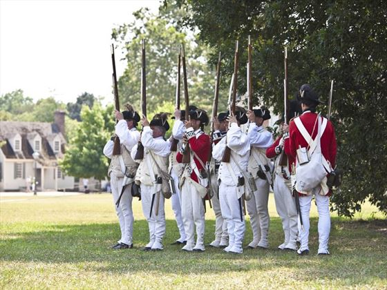 Renactment of Redcoasts seizing Williamsburg