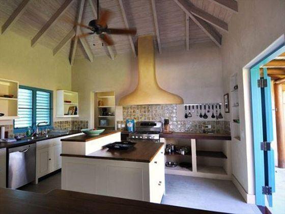 The lovely kitchen at Villa Azura