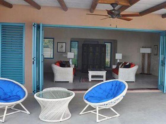 The lounge opens onto the veranda