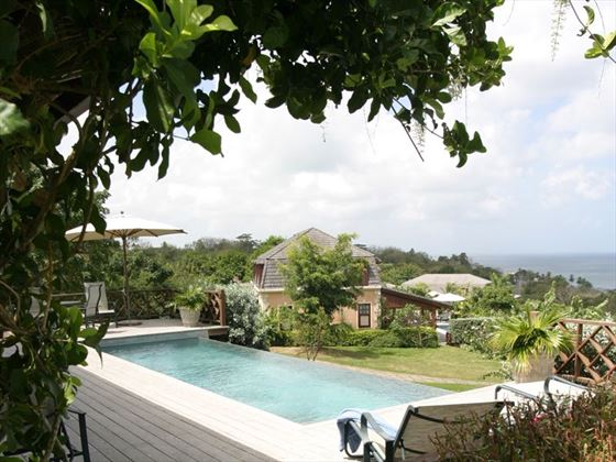 Each villa has a private pool