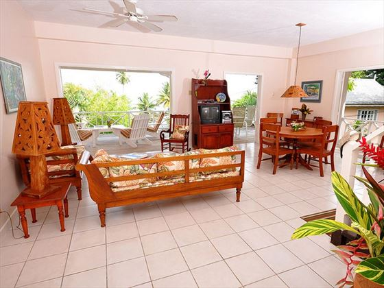 Living area leading to veranda