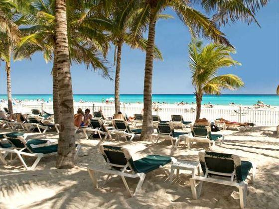 Sun loungers on the beach