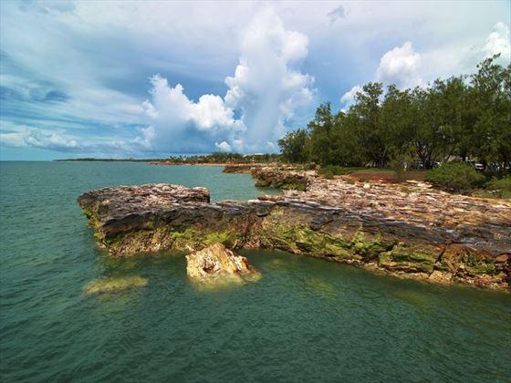 Rocky coastline by Darwin