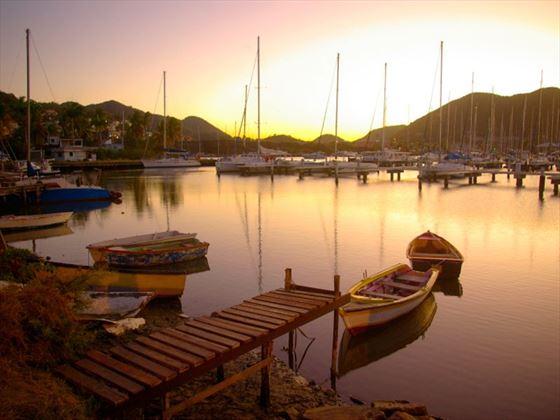 Rodney Bay at dusk