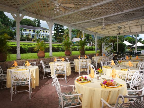 Royal Palm restaurant at Ottley's Plantation Inn