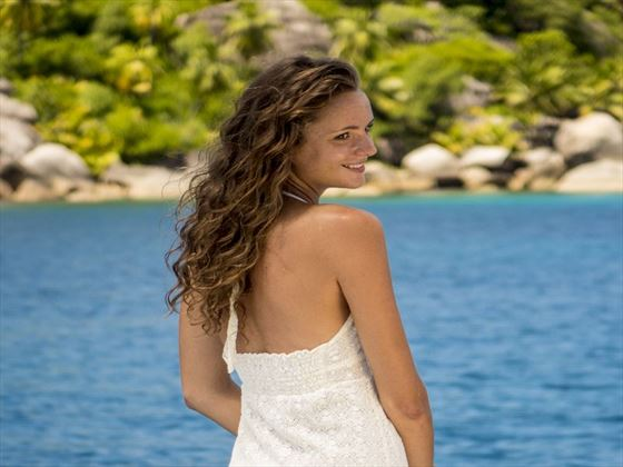 Bride at Carana Beach