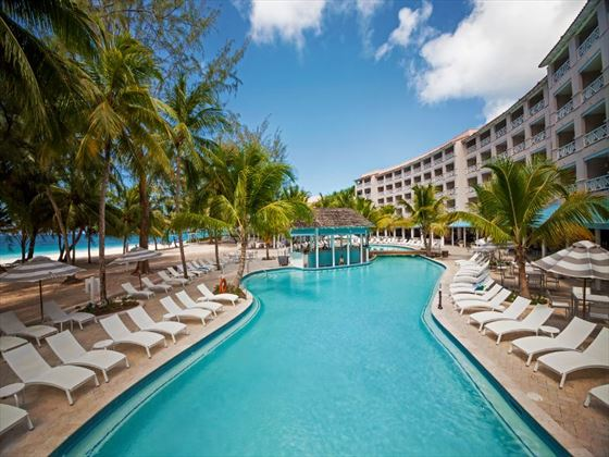 Sandals Barbados pool and bar