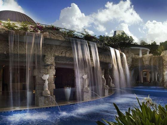 Sandy Lane pool waterfall