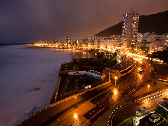 Sea point at night, South Africa