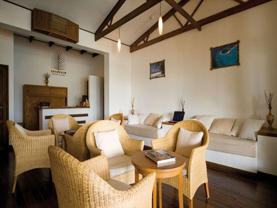 Seaplane lounge at Coco Palm Dhuni Kolhu