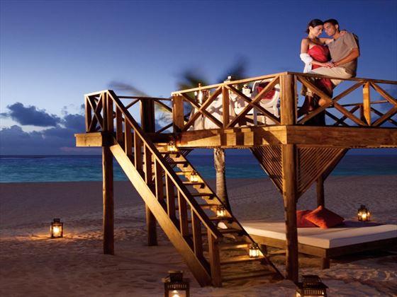 Romantic honeymoon dinner