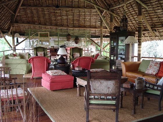 Selous Safari Camp living room