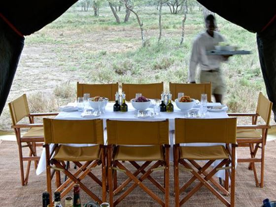 Serengeti Under Canvas dining