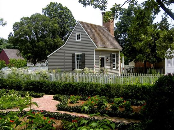 Servants' quarters at a colonial Williamsburg property