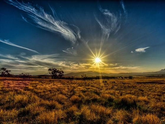 Setting sun over Flinders Ranges National Park