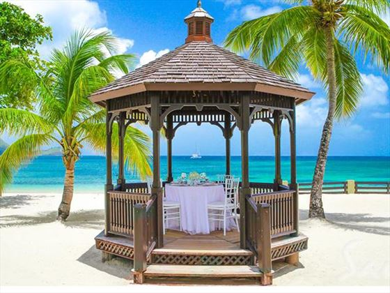 Weddings on the beach at  Sandals Grande St Lucian Spa & Beach Resort