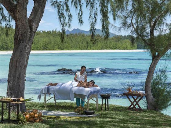 Outside spa massage
