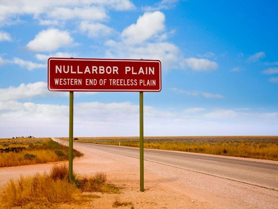 Sign for the Nullarbor Plain