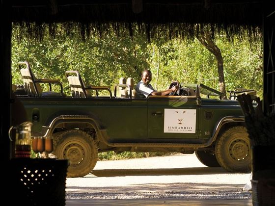Simbambili Game Lodge vehicle