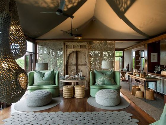 Sitting area at Ngala Tented Camp
