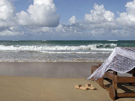 Lounger on the beach