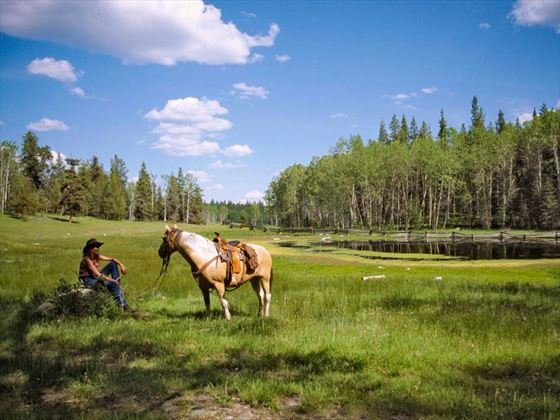 Siwash Lake Wilderness Resort horseback riding activities