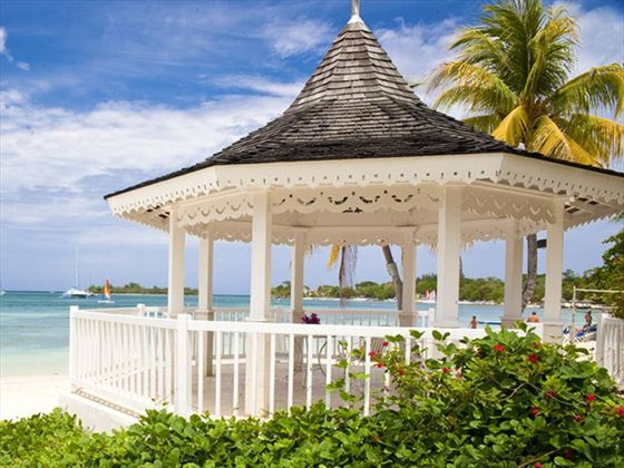 Wedding setting at Sandals Negril Beach Resort & Spa