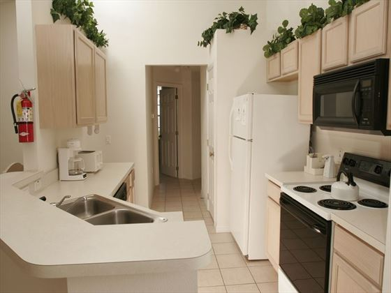 Typical kitchen at Southern Dunes