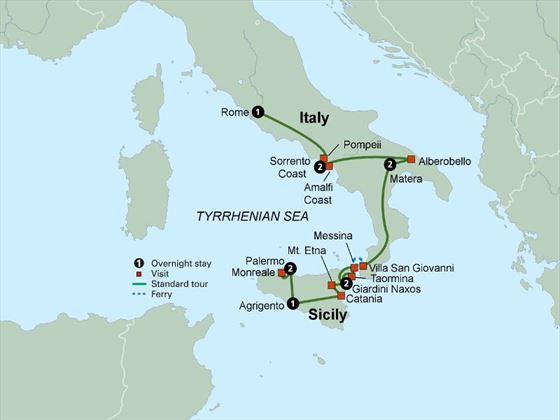 Southern Italy & Sicily itinerary