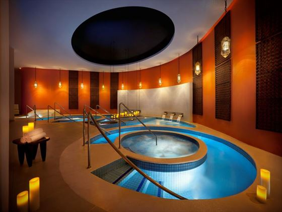 Spa hydrotherapy pool at Hard Rock Hotel and Casino